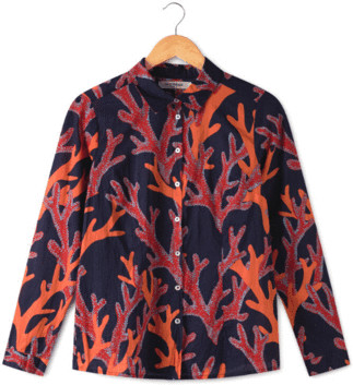 Nice Things Corals Print 99 Shirt - 36