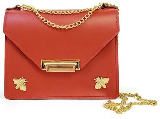 Angela Valentine Handbags Gavi Mini Crossbody In Saffron Red