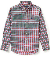 Ralph Lauren Big Boys 8-20 Plaid Long-Sleeve Poplin Shirt