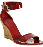 red patent leather 'Santander' cork wedges