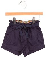 Bonpoint Girls' High-Rise Belted Shorts