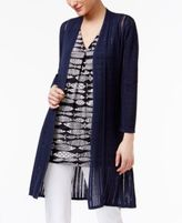 Alfani Illusion-Knit Cardigan, Only at Macy's