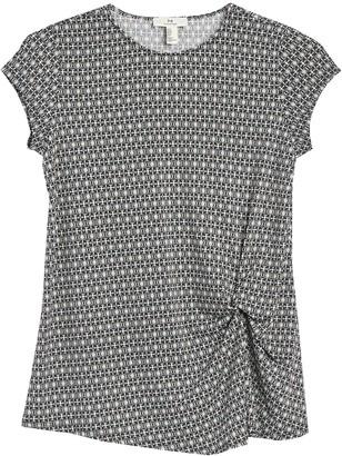 H Halston Cap Sleeve Twist Front T-Shirt