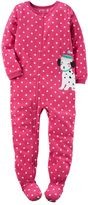 Carter's Girls 4-14 One-Piece Dot Footed Pajamas