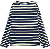 MiH Jeans Mariniere Striped Cotton-jersey Top - Navy