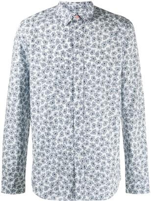 Paul Smith Abstract-Floral Print Long Sleeve Shirt