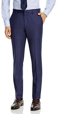 Theory Zaine Rainey Payton Micro-Check Extra Slim Fit Suit Pants