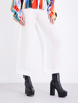 SOLACE London Harmon semi-sheer linen and silk-blend trousers