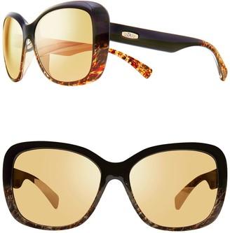 Revo Devin 56mm Butterfly Sunglasses