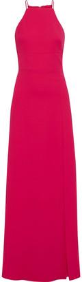 ML Monique Lhuillier Split-front Crepe Gown