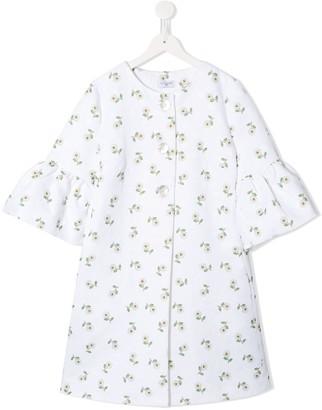 MonnaLisa TEEN floral print coat