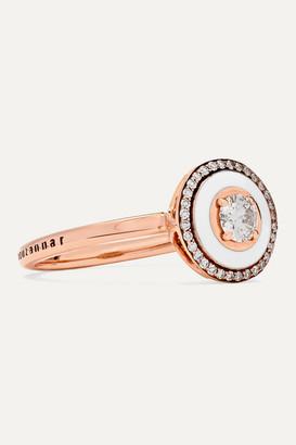 Selim Mouzannar 18-karat Rose Gold, Enamel And Diamond Ring - 54