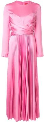 SOLACE London Pleated Long Dress