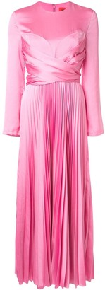 SOLACE London pleated long dress