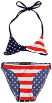 Finger In The Nose American Flag Lycra Bikini