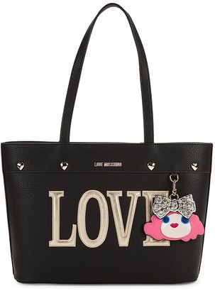 Love Moschino Faux Leather Textured Tote