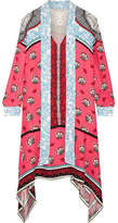Mary Katrantzou Pussy-bow Printed Silk Crepe De Chine Dress - Fuchsia