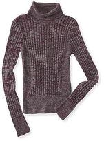 Aeropostale Womens Marled Bodycon Turtleneck Sweater