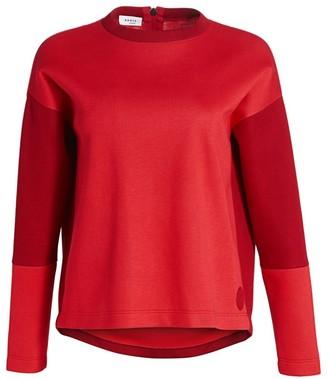 Akris Punto Bonded Cashmere & Wool Two-Tone Sweatshirt