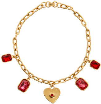 MONDO MONDO Gold Heart Charm Necklace