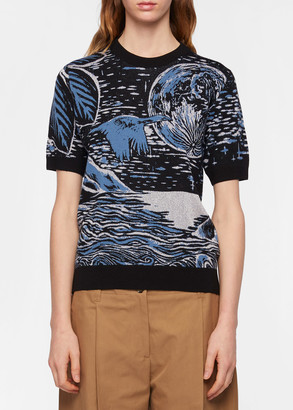 Paul Smith Women's Wool-Blend 'Chile' Jacquard Top