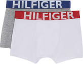 Tommy Hilfiger Logo print cotton boxers set of two 4-16 years