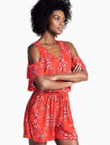Lucky Brand Red Paisley Romper