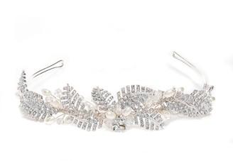 Jon Richard Jewellery Silver, Crystal, Leaf, And, Pearl, Leah, Tiara
