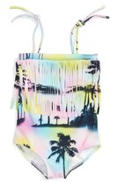 Flowers by Zoe Girl's Palm Tree One-Piece Swimsuit