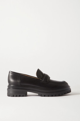 Gianvito Rossi Leather Loafers - Black