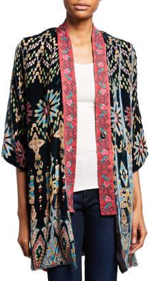 Johnny Was Payden Reversible Burnout Velvet/Silk Kimono