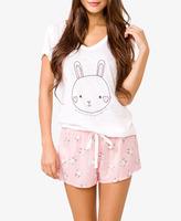 Forever 21 Bunny PJ Set