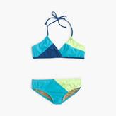 J.Crew Girls' colorbock halter bikini set