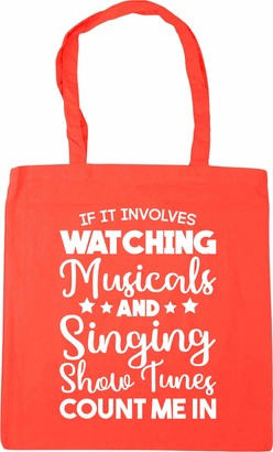 Hippowarehouse If It Involves Watching Musicals & Singing Show Tunes Count Me In Tote Shopping Gym Beach Bag 42cm x38cm 10 litres