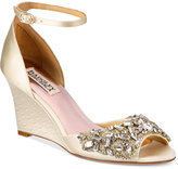 Badgley Mischka Barbara Evening Wedge Sandals