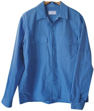 Ami Blue Polyester Jackets