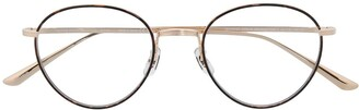 Oliver Peoples Round-Frame Clear-Lens Glasses