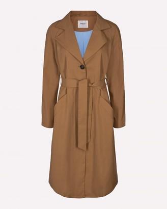 Moss Copenhagen - Tobacco Brown Classic Trenchcoat - XS . | cotton | brown - Brown/Brown