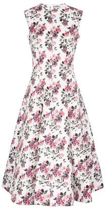 Emilia Wickstead Mara floral crepe midi dress