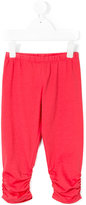 Miss Blumarine ruched leg leggings - kids - Cotton/Spandex/Elastane - 8 yrs