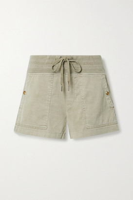 James Perse Military Slub Cotton-blend Shorts