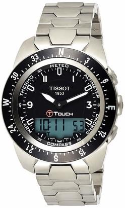 Tissot Men's T0134204405700 T-Touch Expert Pilot Black Touch Analog-Digital Dial Watch