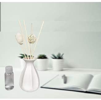 Creative Motion Scented Fragrance For Aroma Diffuser Therapy (white Ceramic Vase + 1 Aroma Oil);Product Size: 8.5 x 2 x 2. Accent any event party home office wedding with aroma smell relaxing