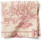 Maison Du Linge Set of 2 Diane Dinner Napkins - Berry/Ivory