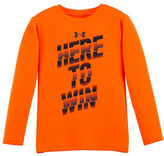Under Armour Boys 2-7 Here to Win Logo Shirt