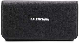 Balenciaga Printed Logo Continental Wallet