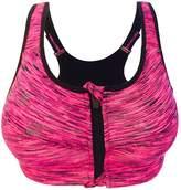 Cliont Women's High Impact Front Zip Sports Bra Fitness Workout Yoga Running Bra