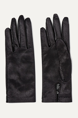 Saint Laurent Leather Gloves - Black