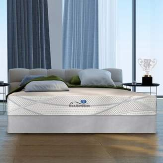 "Spring Air Grand Award Silver Cushion 12.5"" Medium Gel Memory Foam Mattress With Base Mattress Size: Twin"