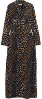 Equipment Major Leopard-print Washed-silk Maxi Dress - Leopard print